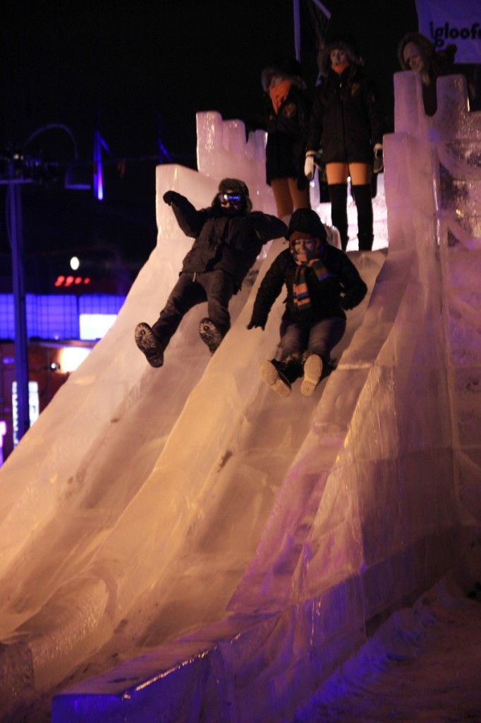Igloofest Ice Slide. Photo Natalia Siverina