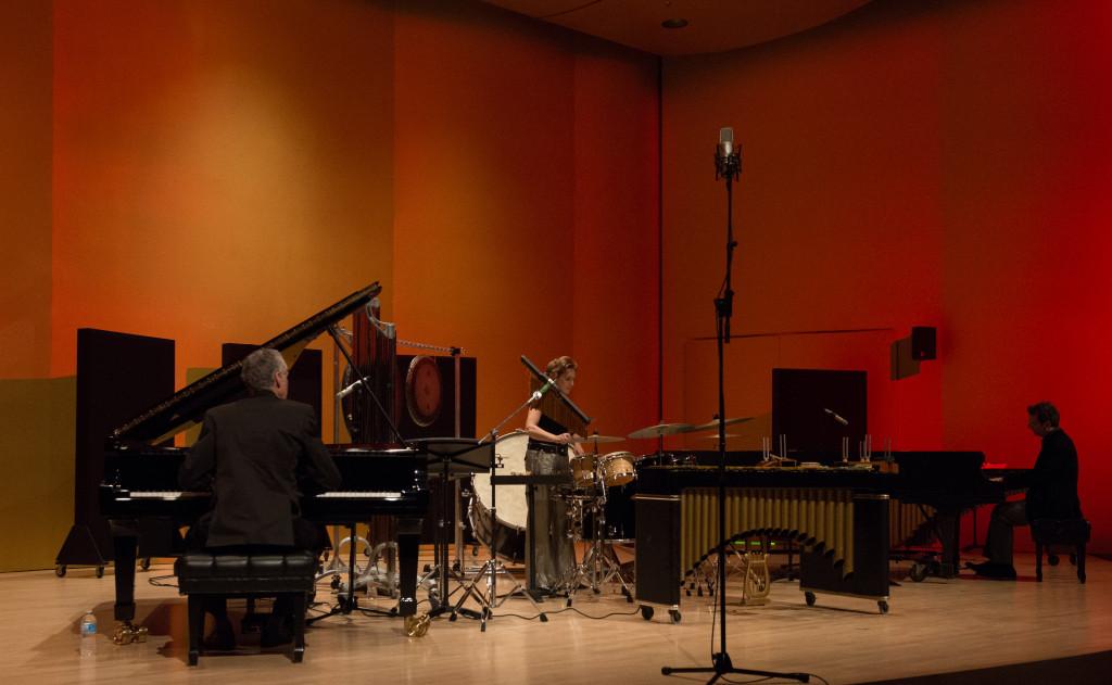 Simard, Bourassa, Léveillé en trois couleurs / Conservatoire de Mus. de Mtl. 15 fév 13. Photo: André Chevrier