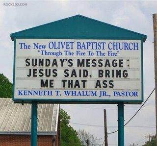 Olivet Baptist Church Sign