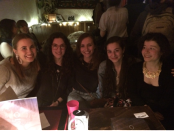 The women of Yiara (left to right): Cassandra Marsillo, events coordinator; Ellen Belshaw, assistant editor; Tess Juan-Gaillot, editor-in-chief; Steph Hornstein, associate English editor; and Isabelle L'Heureux, associate French editor. Missing: Valerie Frappier, head writer.
