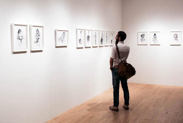 Daniel Barkley Vernissage. Gallerie Dominique Bouffard. Photo Magali Crevier.