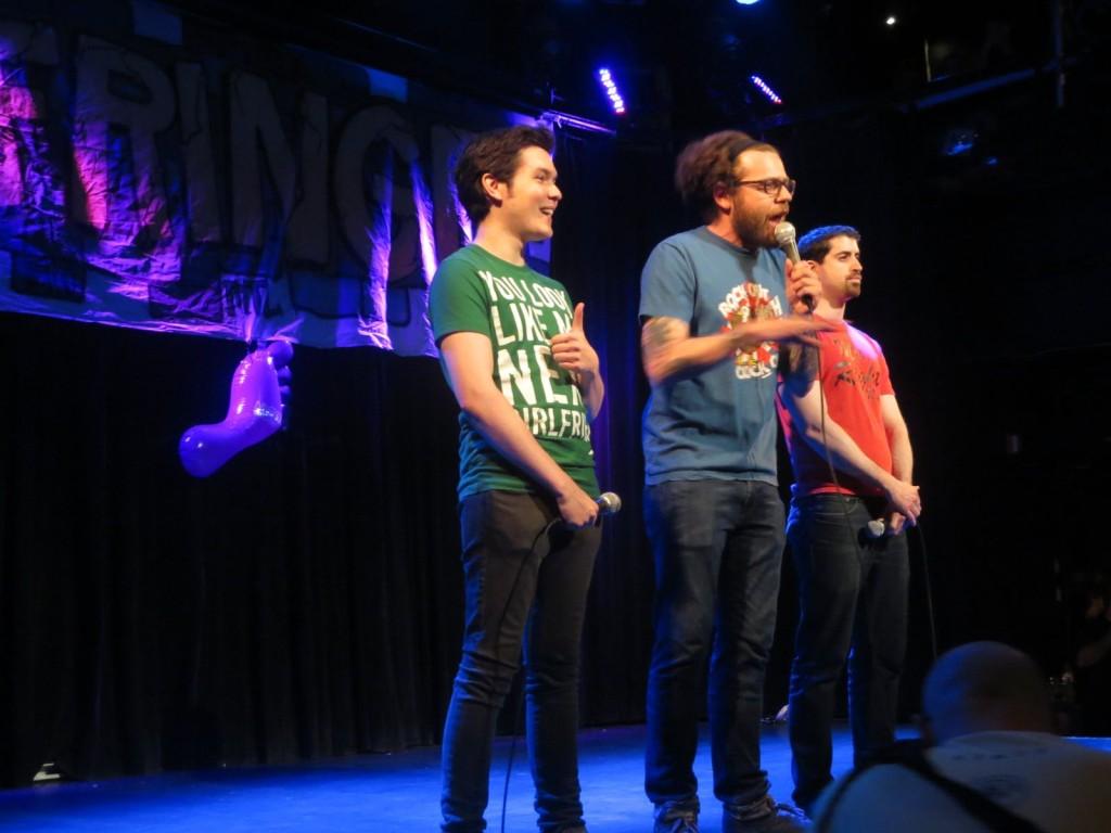 Montreal Fringe Festival Launch. talking Cock. Photo Rachel Levine