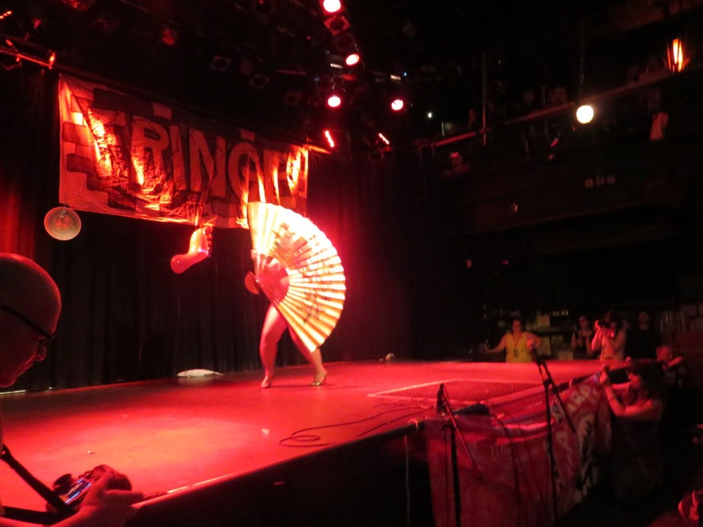 Montreal Fringe Festival Launch. Cherry Typhoon. Photo Rachel LEvine.