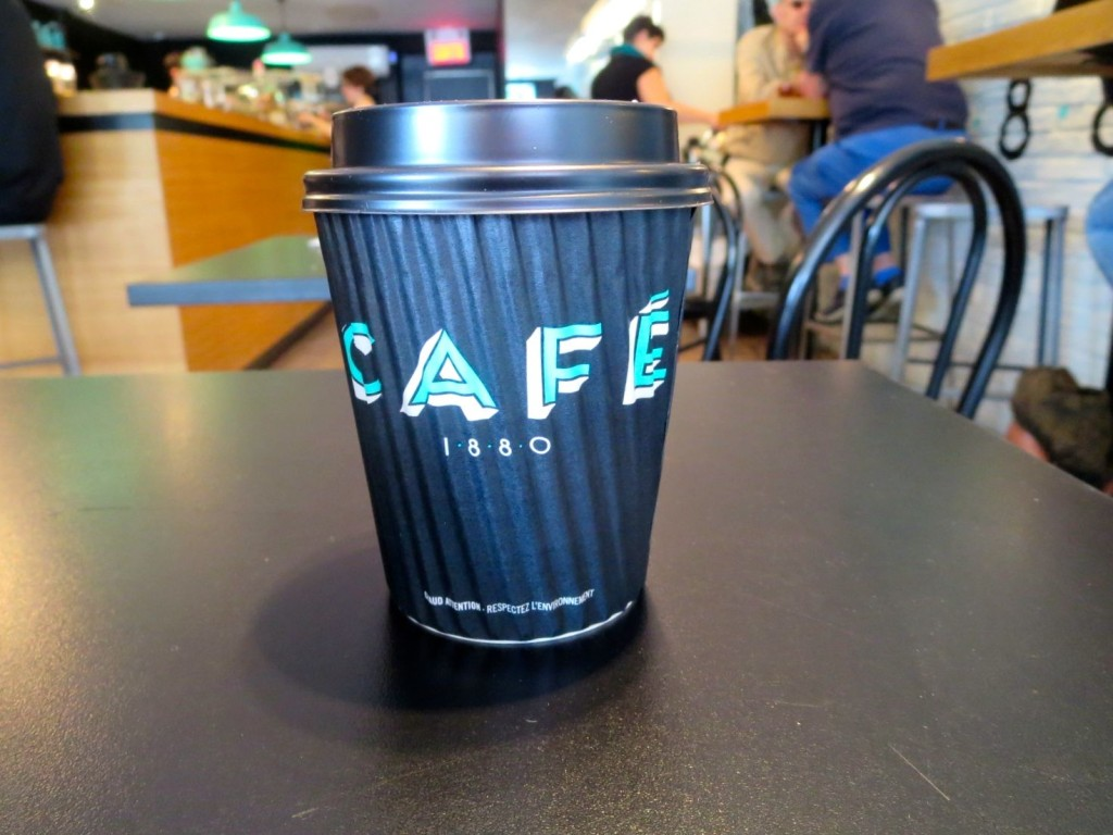 8 oz of Cafe 1880 coffee. Photo Rachel Levine.