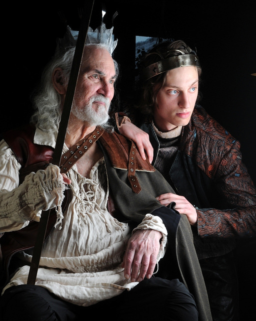 Harry The King Promotional Image (Harry and Falstaff) Aris Tyros (Harry) and Joel Miller (Falstaff). Credit: Alan Dean Photography