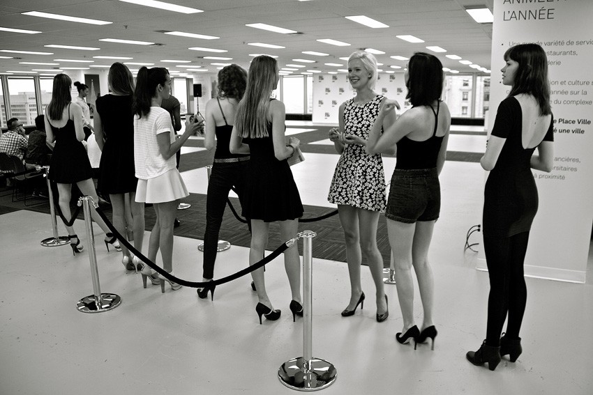 FDM Casting Call for Models. Place Ville Marie. Photo Michael Bakouch.