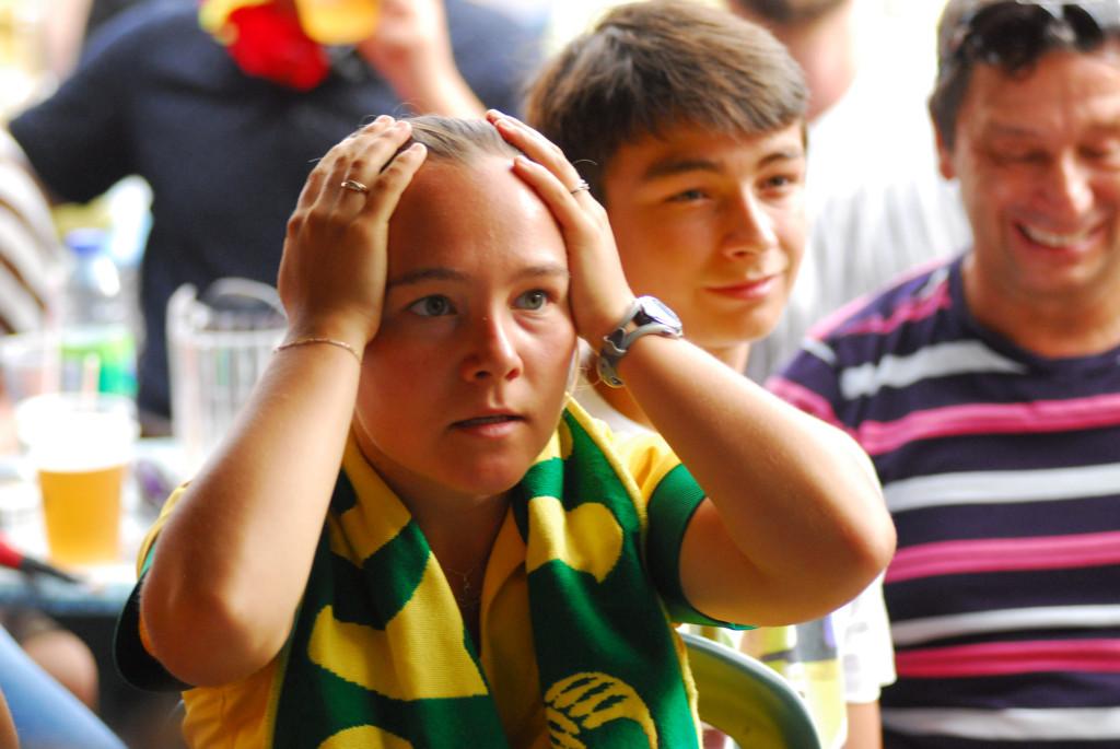 Germany v. Brazil. Photo German Silva.