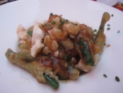 Tempura Green Bean Poutine. Photo Esther Szeben.