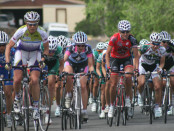 Women Cyclists in the Tour of the Gila. Half the Road.
