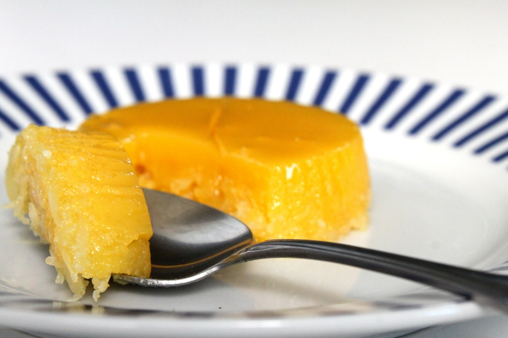 Quindim. A coconut and egg yolk flan. Photo by Annie Shreeve