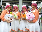 Julie, Gabrielle, Isabelle as Nurse Joy. Otakuthon. Photo Rachel Levine