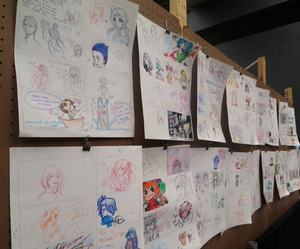 drawings. Otakuthon. Photo Rachel Levine