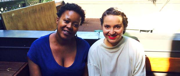 ARTISTA Program Coordinators Warona Setshwaelo (left) and Joy Ross-Jones (right) Photo by Steph Weiner