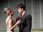 Brigitte Robinson (Mrs. Robinson) & Luke Humphrey (Ben Braddock). The Graduate. Segal Centre. Photo Andre Lanthier
