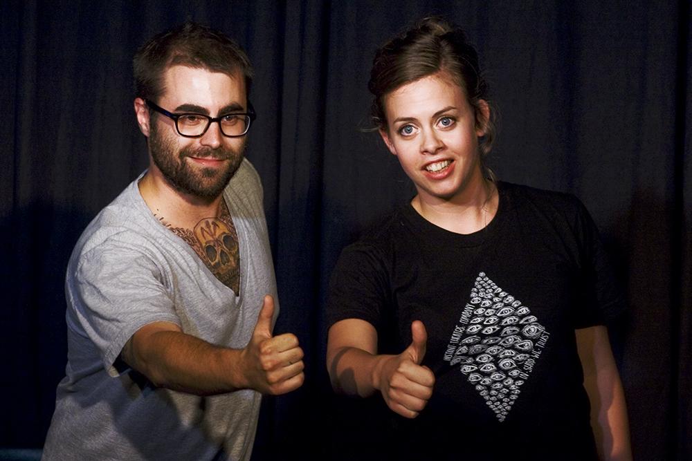 Matt Folliott & Kirsten Rasmussen of K$M, photo by Irene Suchoki