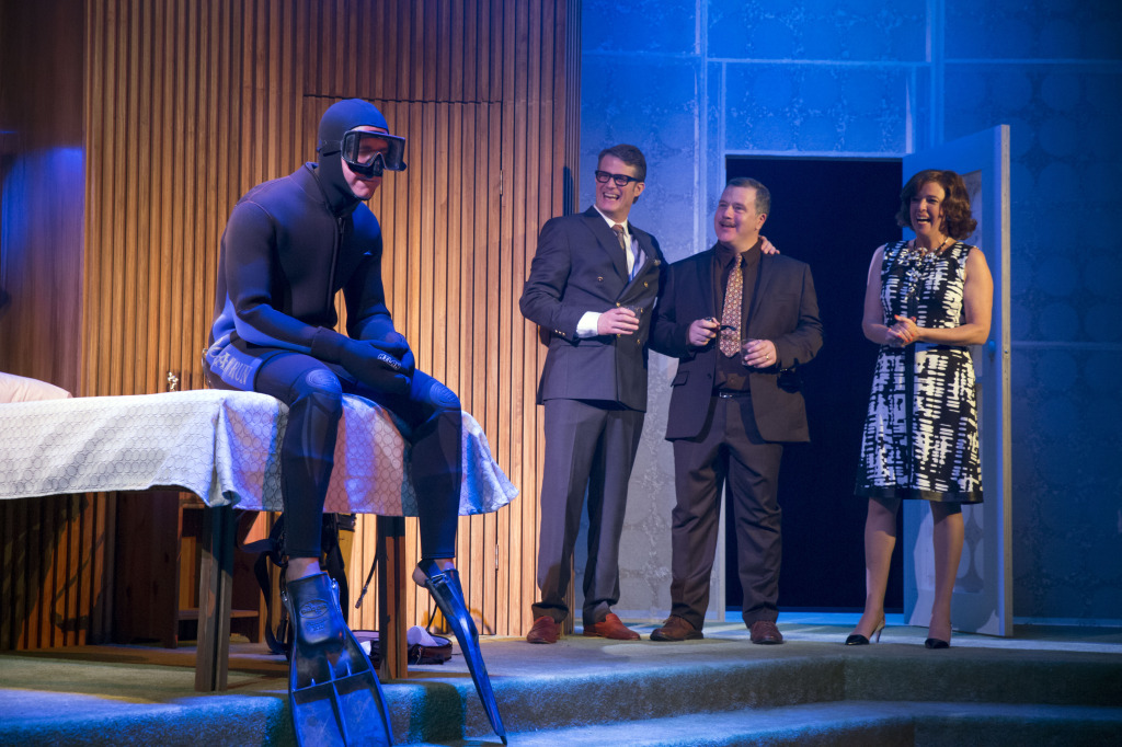 Luke Humphrey, Marcel Jeannin, Alain Goulem, Jane Wheeler (Photo by Daniel Plante). The Graduate. The Segal Centre