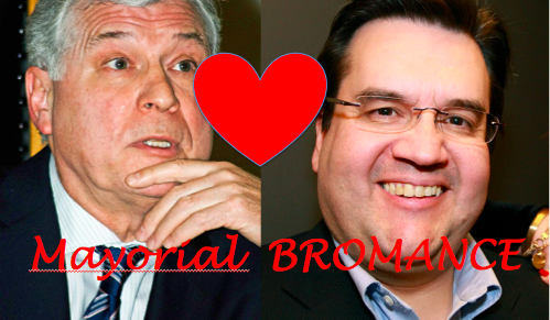 Denis Corderre and Peter Trent. Mayorial Bromance