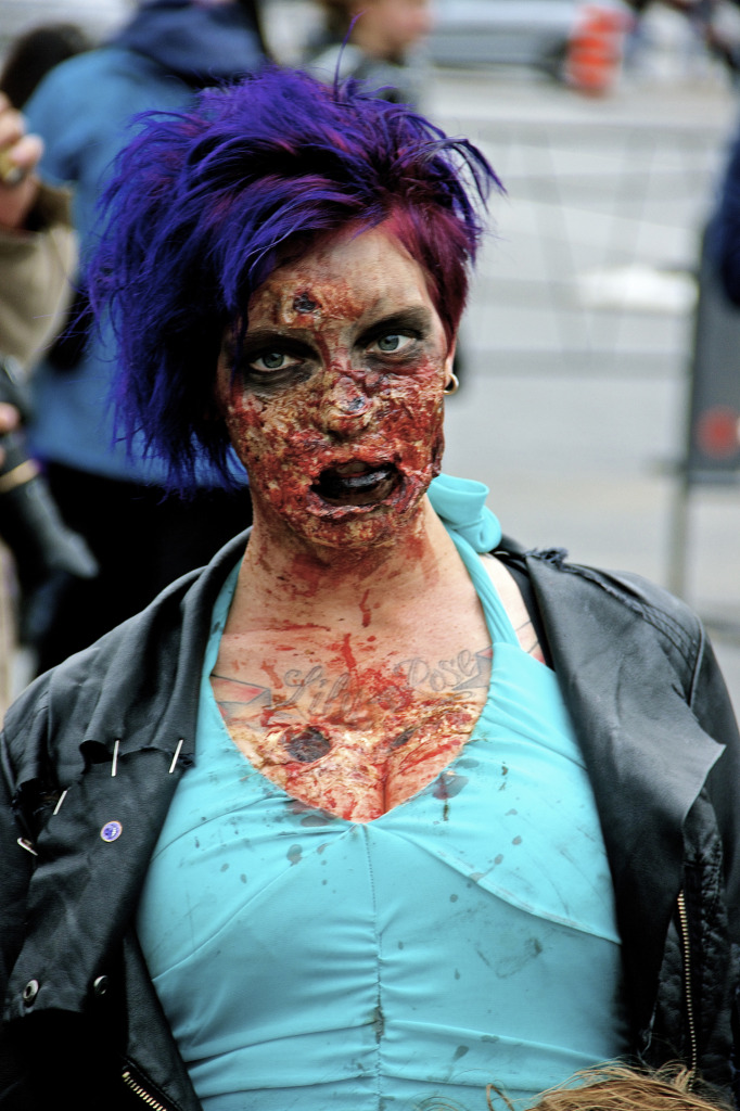 Zombie Walk. Montreal. Photo Michael Bakouch.