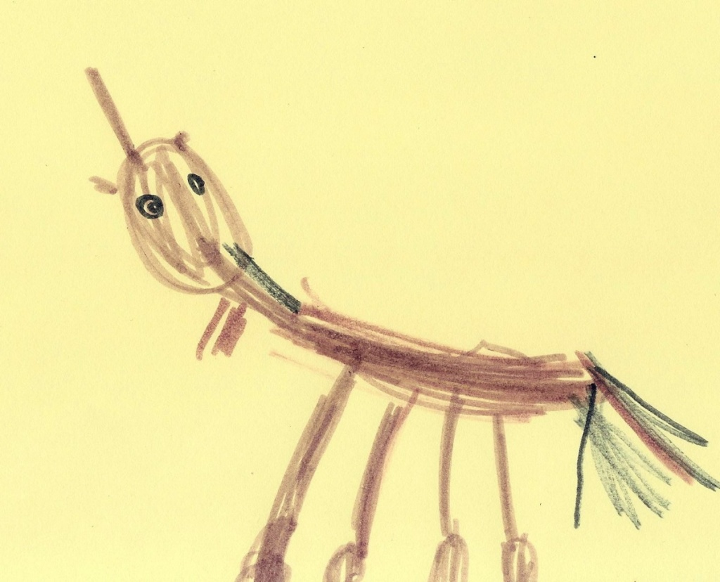 CHild drawing of horse