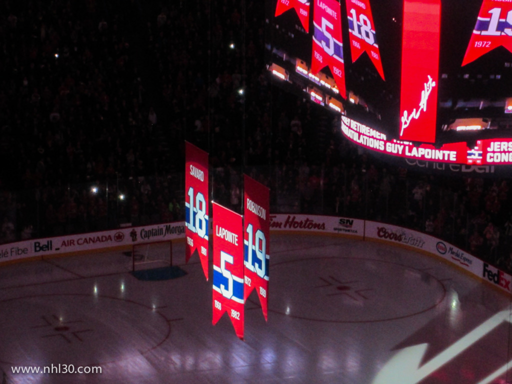 Guy Lapointe Jersey Retirement Photo by Jean-Frederic Vachon