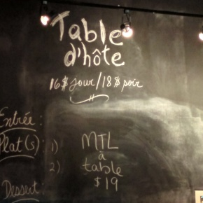 Mtl a table. Montreal Brewing Co. Photo Esther Szeben