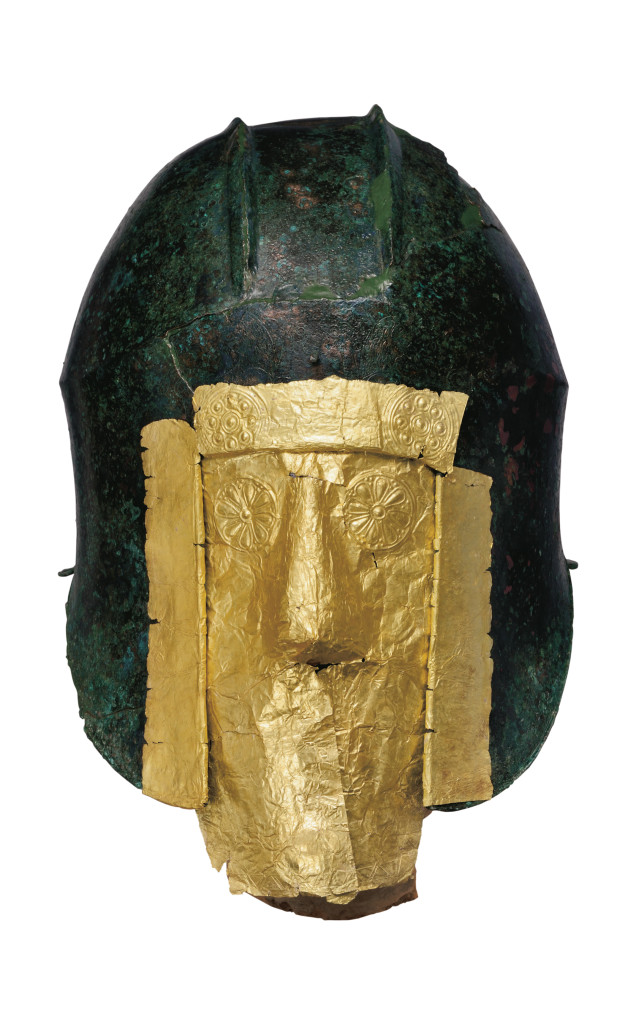 helmet and funeral mask. The greeks from agamemnon to alexander the great.