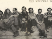 The Vehicule poets (left to right: Endre Farkas, Claudia Lapp, Artie Gold, John McAuley, Ken Norris, Tom Konyves, Stephen Morrissey).