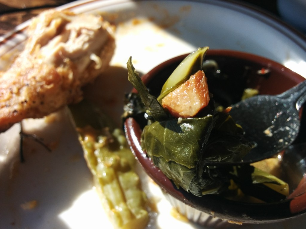 Braised Collards. Dinette Triple Crown. Photo Esther Szeben.