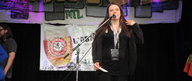 Amy Blackmore. Fringe For All 2015. Photo Rachel Levine