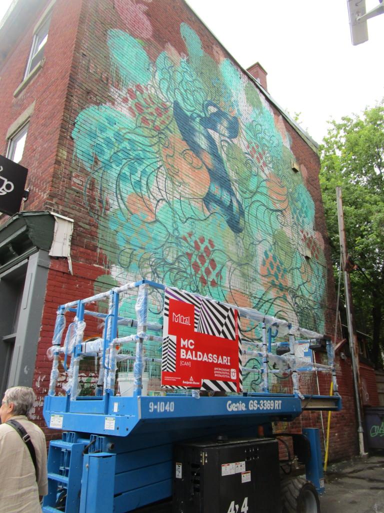 MC Baldassari. Mural Festival 2015. Photo Rachel Levine