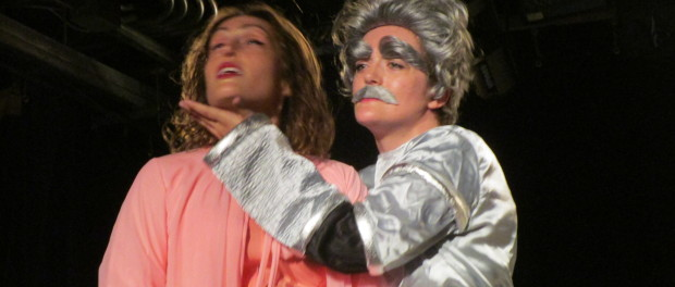 Einstein and Marie Curie. Mark Twain in the Year 3000/Einstein Through Space. Montreal Fringe Festival 2015. Photo Rachel Levine