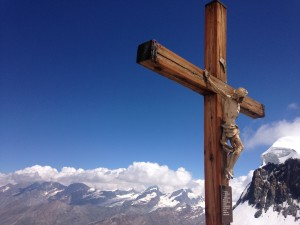 Jesus on top of Matterhorn Glacier Paradise