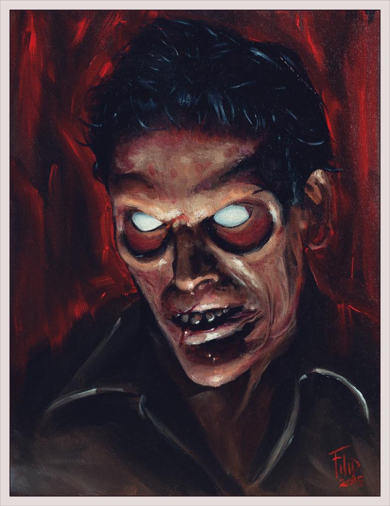 Evil Ash. Artwork by Filip Ivanovic