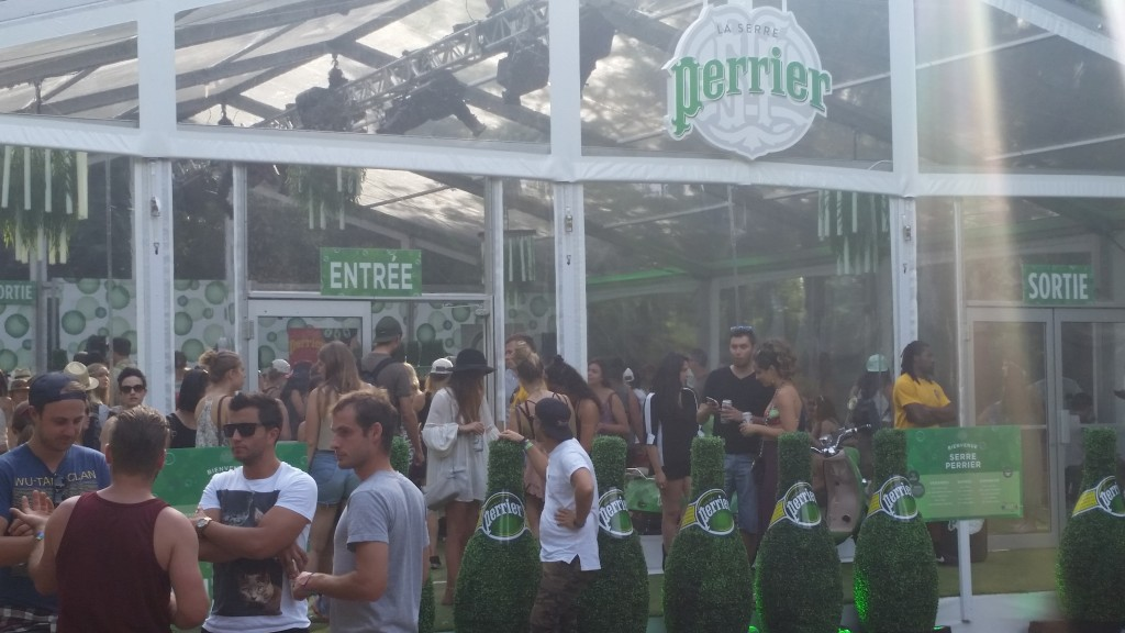 Perrier Greenhouse. Osheaga. 2015. Photo Belinda Belice.