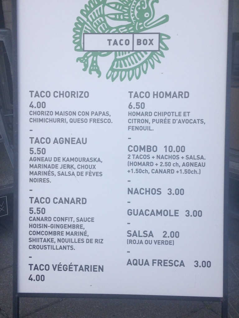 Taco Box. Photo Paulette Hall.