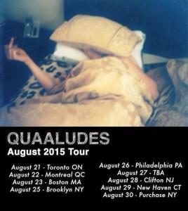 Quaaludes August 2015 Tour