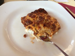 Lasagna, Nicola's Pizzeria Ristorante, Bologna, Photo: Julie Santini