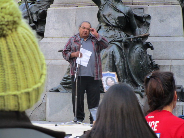 Johnny Wylde. Missing and Murdered Aboriginal Women March and Vigil. Photo Rachel Levine
