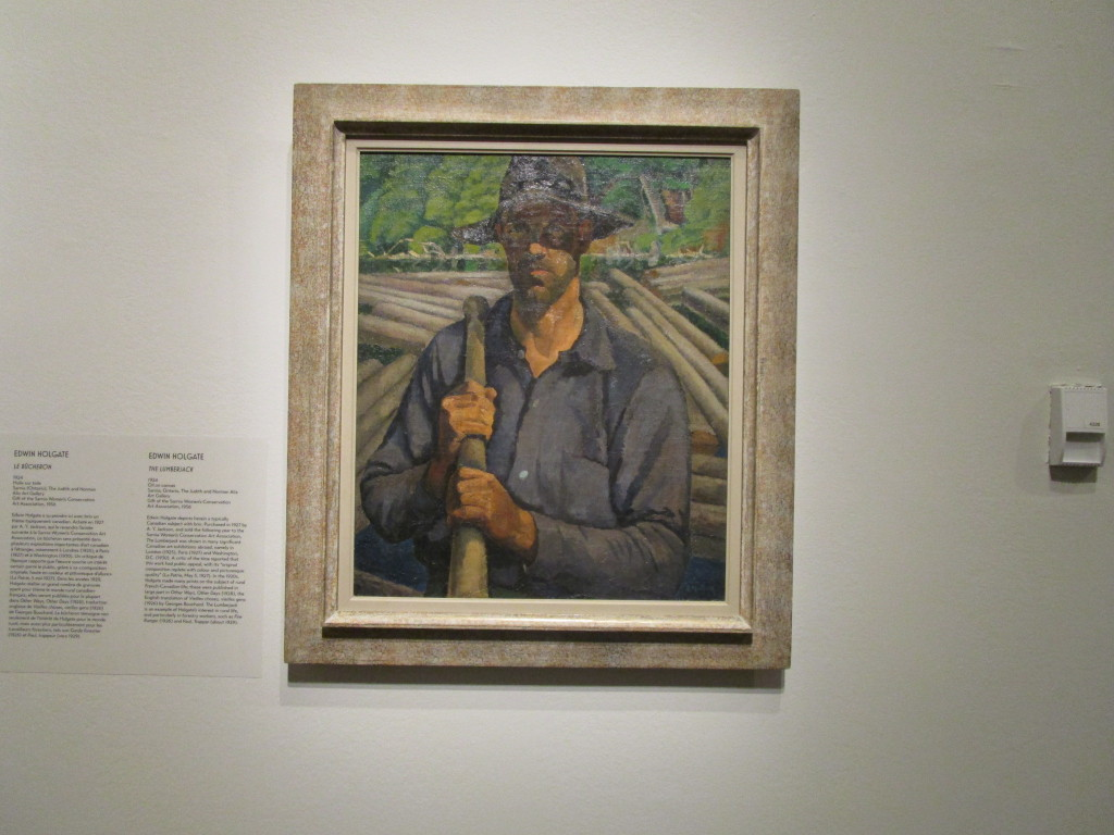 Edwin Holgate. The Lumberjack. Beaver Hall Group. Photo Rachel Levine