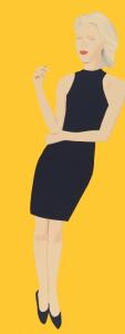 """Alex Katz, """"Black Dress VIII (Ruth)"""", 2015"""