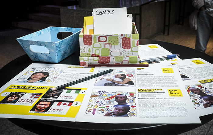 Amnesty International's Annual Write-a-Thon: Your words can save lives!