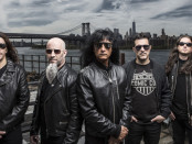 Anthrax. (L to R) Frank Bello, Scott Ian, Joey Belladonna, Charlie Benante, Jon Donais