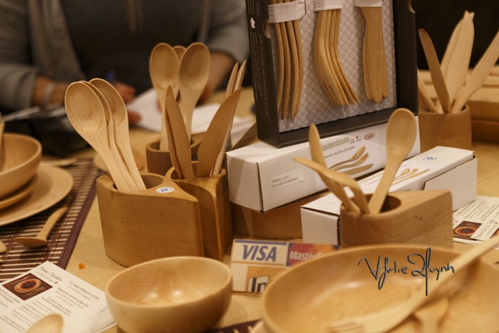 Justenbois. Wood utensils. Expo Sante et Manger. Photo Lily Huynh.