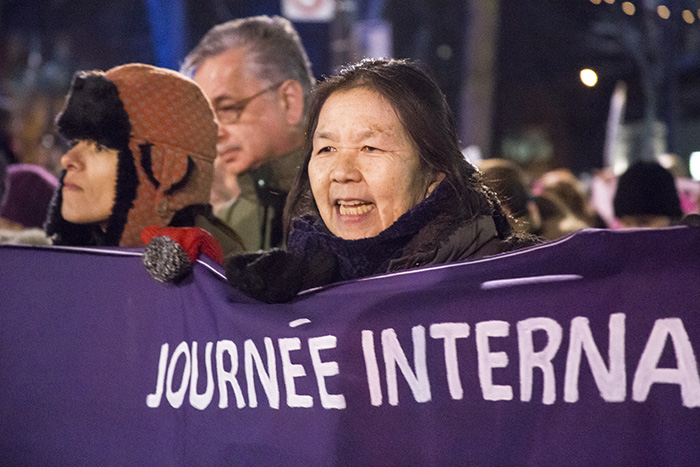 International Women's Day March. 2016. Photo Laura Dumitriu