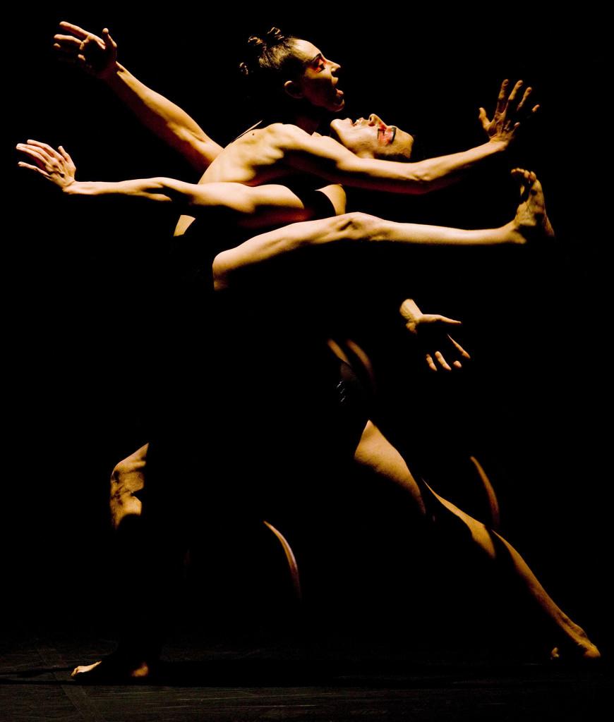 Compagnie Marie Chouinard. Nicolas Ruel Photo. Dancers Carol Prieur and Jame Viveiros.