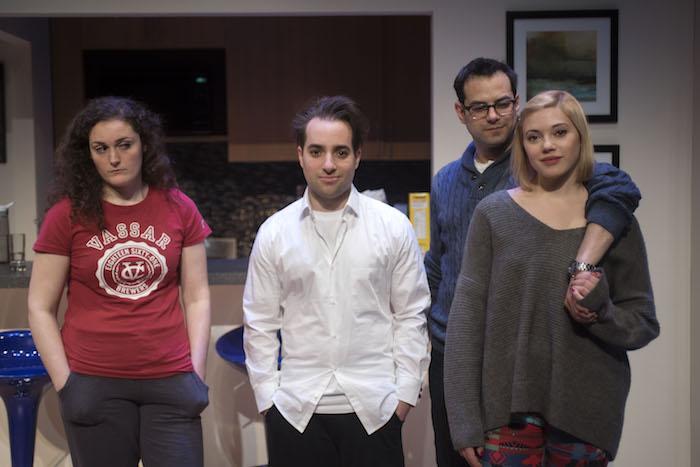 Sarah Segal-Lazar, Jake Goldsbie, Jamie Elman, Victoria Diamond. BAD JEWS. Photo by Andrée Lanthier