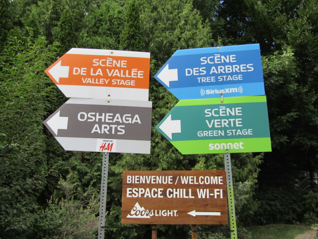 Osheaga Stages. Photo Rachel Levine