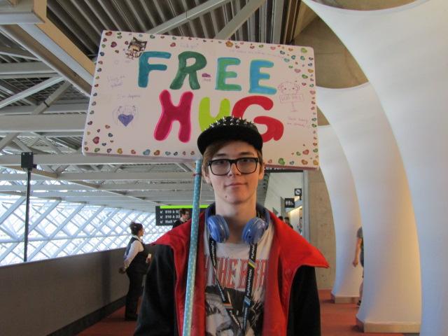 Free Hug. Otakuthon. Photo Rachel Levine