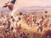 """The Victory of Montcalm's Troops at Carillon"" by Henry Alexander Ogden, now in the Fort Ticonderoga Museum in New York. Photo credit: Wikimedia Commons."