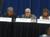 Harvey Cox, Deepak Chopra, Susannah Heschel. 3rd Global Conference on World's Religions After September 11. Photo C.L. Ilsley.